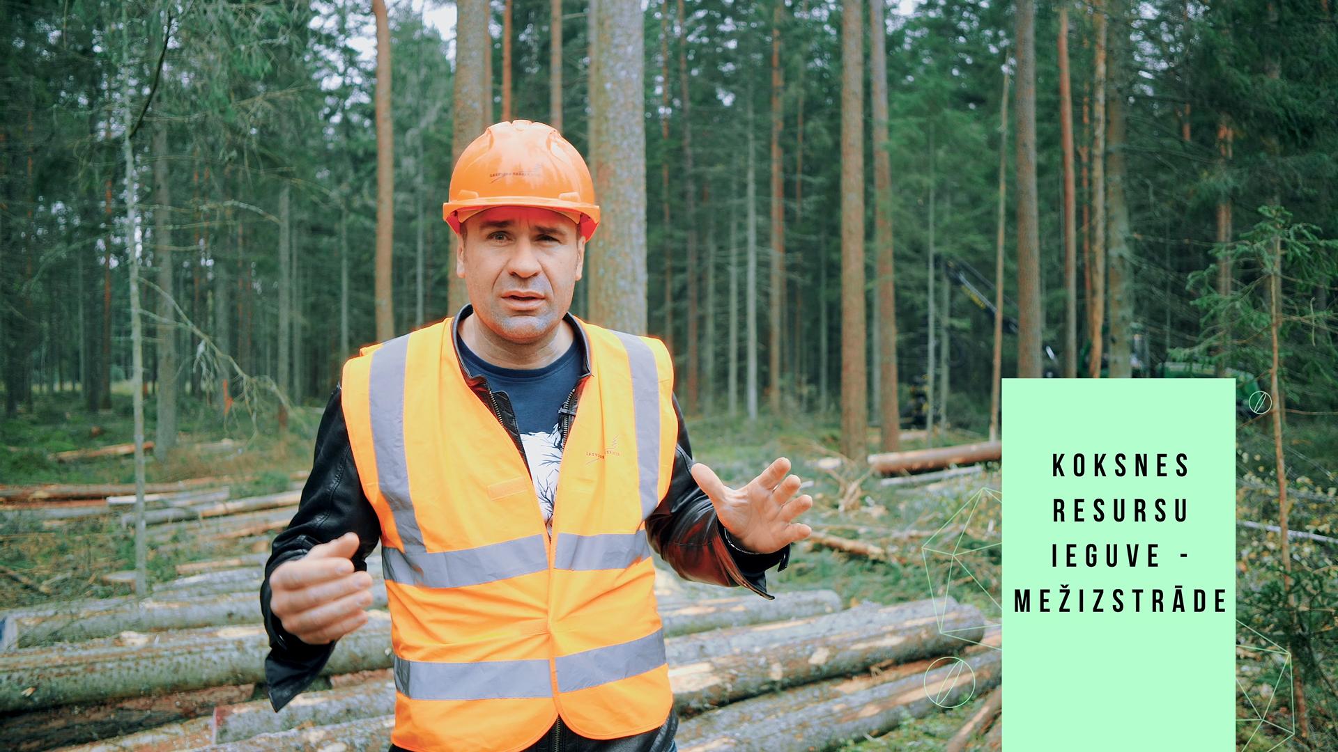 Koksnes resursu ieguve mežistrādē